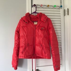 Hollister Down Coat Neon